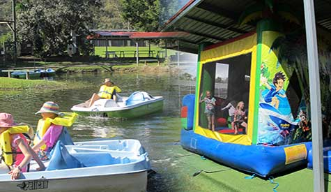 Paddle Boats Jumping Castle